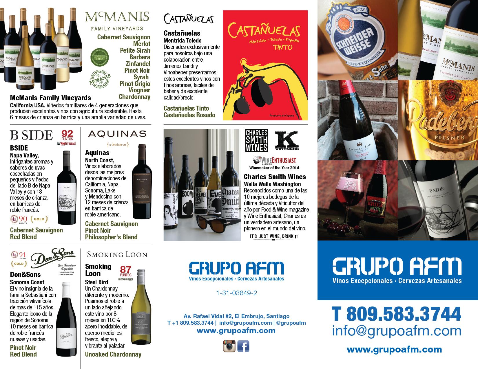 Somos Grupo AFM, empresa familiar que se dedica a la importación y distribución de de vinos, cervezas y materia prima para hacer cerveza en la República Dominicana, especializados en productos artesanales y de alta calidad.